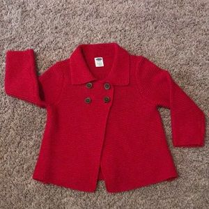 Old navy red swing sweater size 12-18 mo